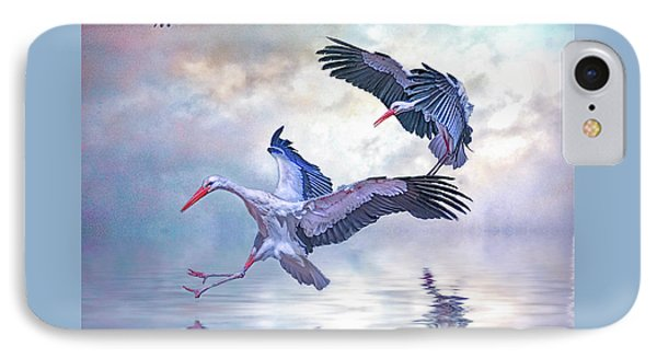 Storks Landing IPhone Case by Brian Tarr