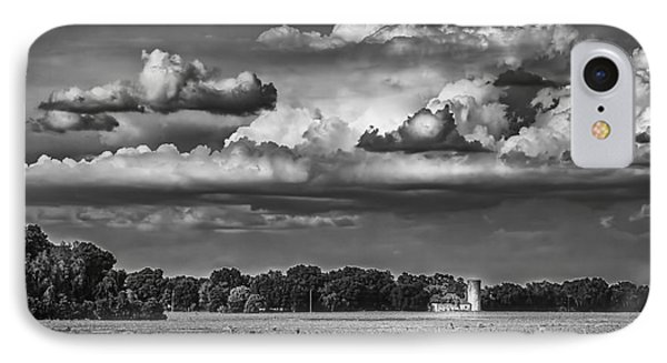 Storm A Coming-bw IPhone Case by Marvin Spates