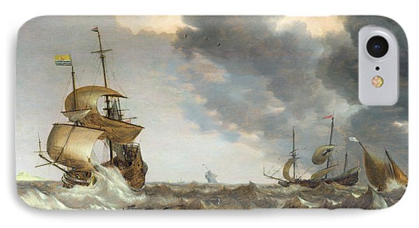 Storm At Sea Phone Case by Bonaventura Peeters