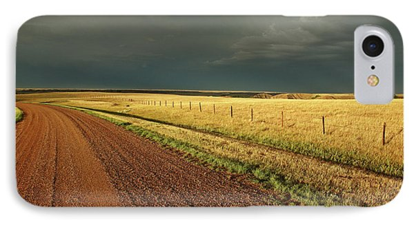 Storm Clouds Along A Saskatchewan Country Road Phone Case by Mark Duffy