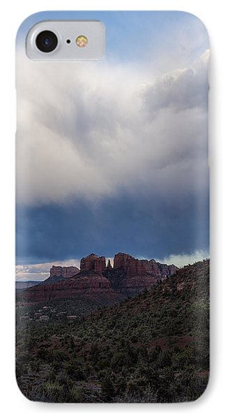 Storm Clouds Over Cathedral Rock IPhone Case