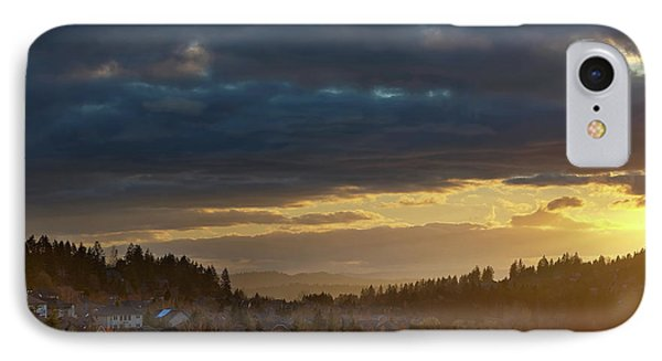 Storm Clouds Over Happy Valley During Sunset Phone Case by David Gn