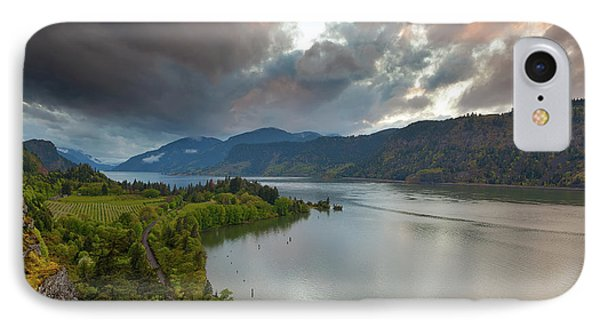 Storm Clouds Over Hood River Phone Case by David Gn