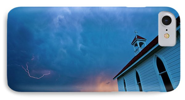 Storm Clouds Over Saskatchewan Country Church Phone Case by Mark Duffy