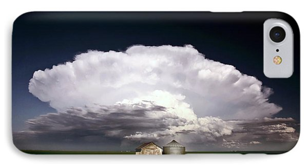 Storm Clouds Over Saskatchewan Granaries Phone Case by Mark Duffy