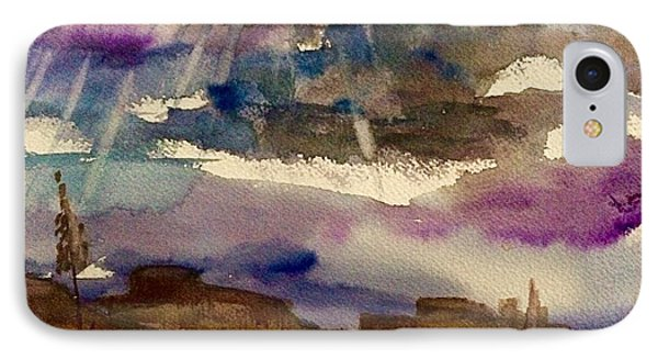 Storm Clouds Over The Desert IPhone Case by Ellen Levinson