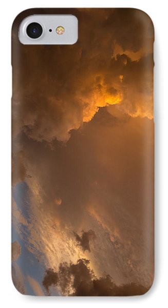 Storm Clouds Sunset - Dramatic Oranges - A Vertical View IPhone Case