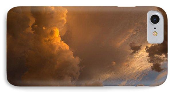 Storm Clouds Sunset - Dramatic Oranges IPhone Case