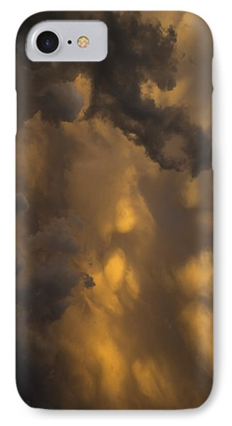 Storm Clouds Sunset - Ominous Grays And Yellows - A Vertical View IPhone Case