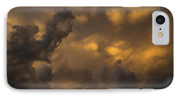 Storm Clouds Sunset - Ominous Grays And Yellows IPhone Case