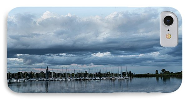 Storm Is Coming - Turbulent Sky And Yachts IPhone Case