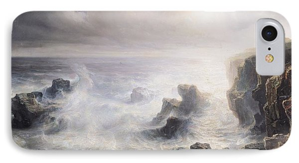 Storm Off The Coast Of Belle Ile Phone Case by Jean Antoine Theodore Gudin