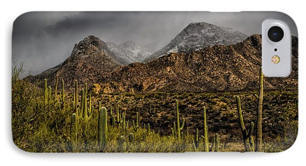 Storm Over Catalinas 15 IPhone Case by Mark Myhaver