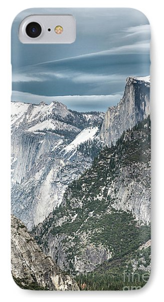 IPhone Case featuring the photograph Storm Over Half Dome by Sandra Bronstein