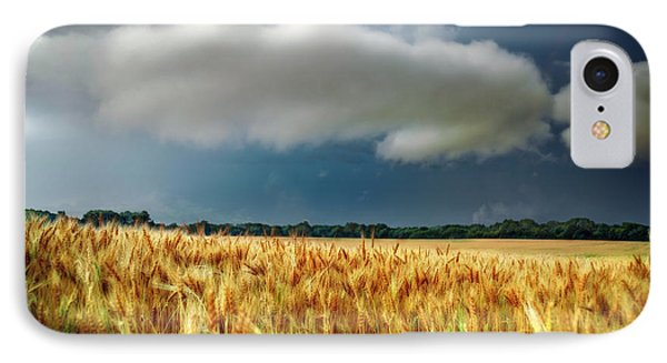 Storm Over Ripening Wheat IPhone Case
