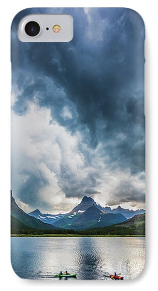 Storm Over Swiftcurrent Lake IPhone Case by Inge Johnsson
