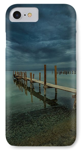 Storm Over The Dock IPhone Case