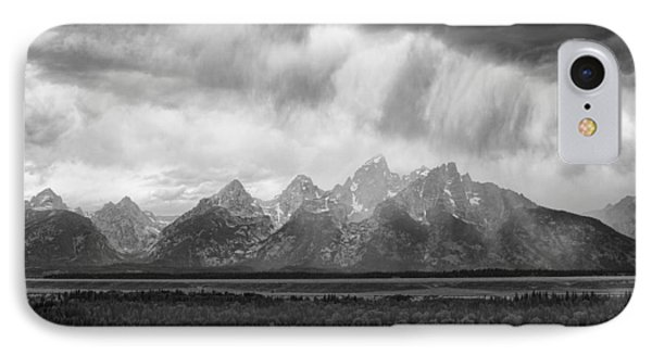 Storm Over Tres Tetons IPhone Case