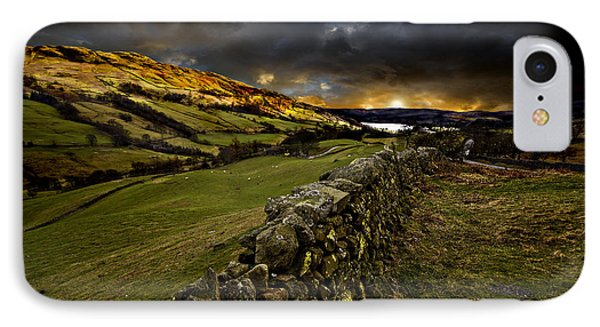 Storm Over Windermere Phone Case by Meirion Matthias