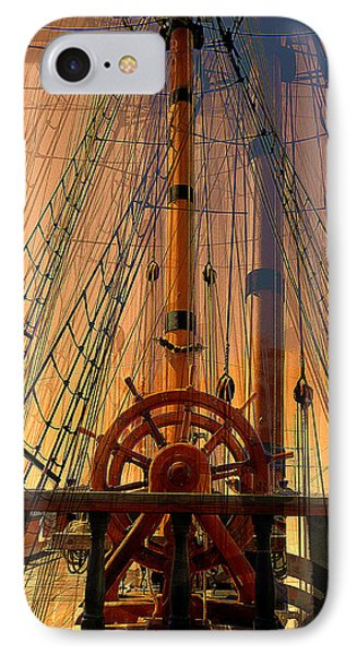 IPhone Case featuring the photograph Storm Ship Of Old by Lori Seaman