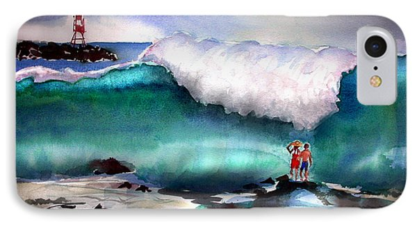 Storm Surf Moment IPhone Case