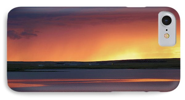 IPhone Case featuring the photograph Stormclouds After Dark by Heidi Hermes
