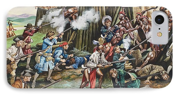 Storming Of The Fortress Of Neoheroka Phone Case by Ron Embleton