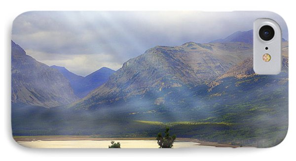 Storms A Coming-lower Two Medicine Lake Phone Case by Marty Koch