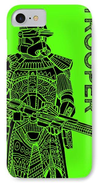 Stormtrooper - Green - Star Wars Art IPhone Case