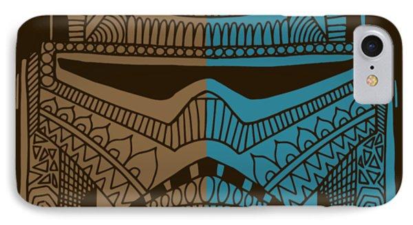 Stormtrooper Helmet - Star Wars Art - Brown Blue IPhone Case