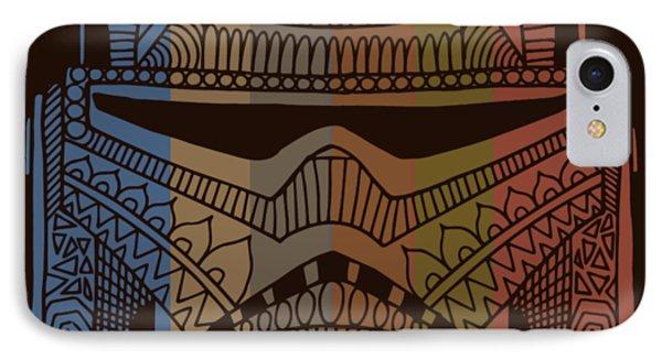 Stormtrooper Helmet - Star Wars Art - Colorful IPhone Case