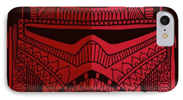 Stormtrooper Helmet - Star Wars Art - Red IPhone Case