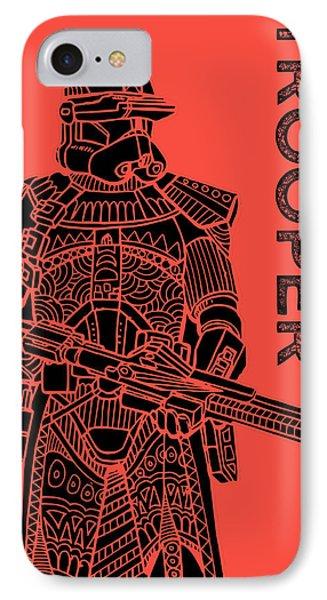 Stormtrooper - Red - Star Wars Art IPhone Case