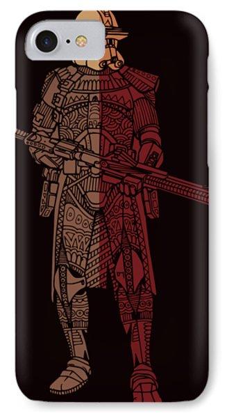 Stormtrooper Samurai - Star Wars Art - Red Brown IPhone Case