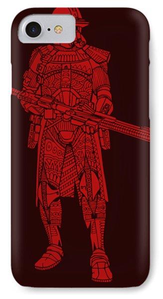 Stormtrooper Samurai - Star Wars Art - Red IPhone Case