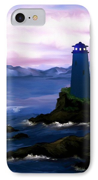 IPhone Case featuring the painting Stormy Blue Night by Susan Kinney