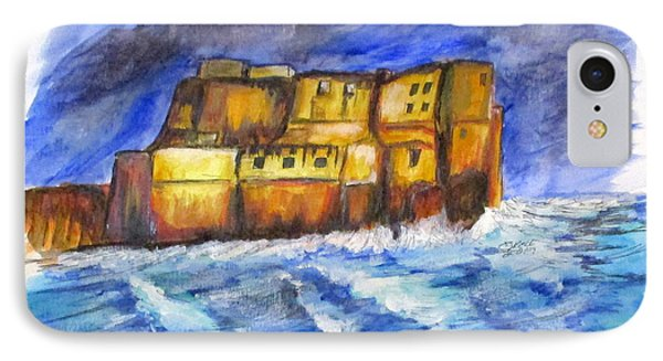 Stormy Castle Dell'ovo, Napoli IPhone Case by Clyde J Kell
