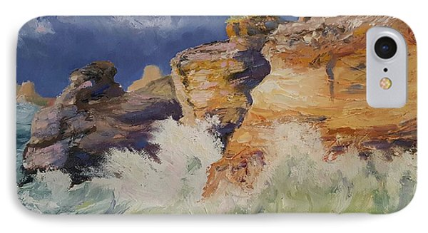 Stormy Cliffs At Sea IPhone Case