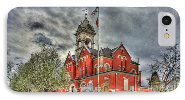 Stormy Day Jones County Georgia Court House Art IPhone Case by Reid Callaway
