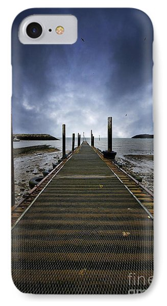 Stormy Jetty Phone Case by Meirion Matthias