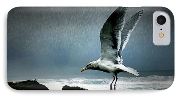 Stormy Landing IPhone Case by Bonnie Bruno