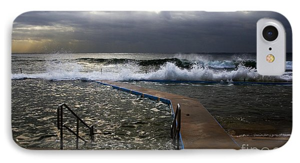 Stormy Morning At Collaroy Phone Case by Avalon Fine Art Photography