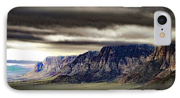 Stormy Morning In Red Rock Canyon IPhone Case by Alan Socolik