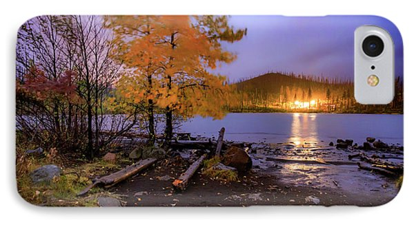 IPhone Case featuring the photograph Stormy Night At Round Lake by Cat Connor
