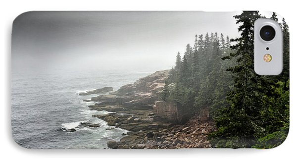 Stormy North Atlantic Coast - Acadia National Park - Maine IPhone Case