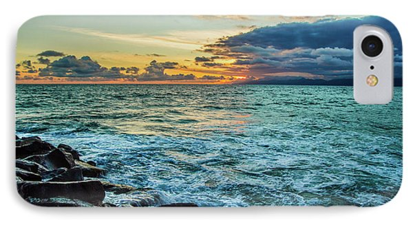 Stormy Ocean Sunset IPhone Case by April Reppucci