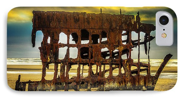 Stormy Shipwreck Phone Case by Garry Gay