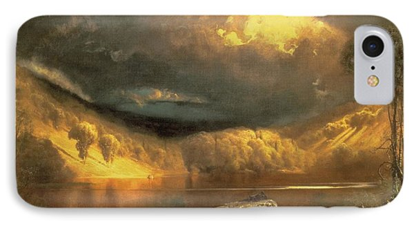 Stormy Skies Above Echo Lake White Mountains  IPhone Case