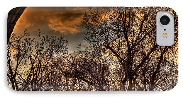 Stormy Sunset 14151 IPhone Case by Jerry Sodorff