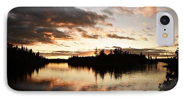 Stormy Sunset On Little Saganaga Lake IPhone Case